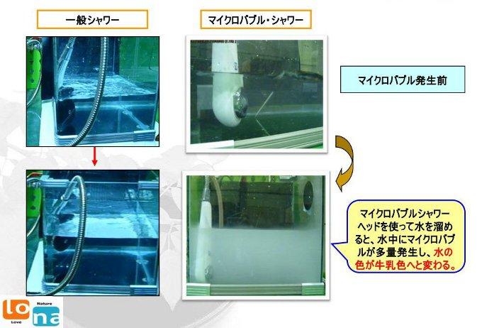 一般シャワーとマイクロバブルシャワーの比較